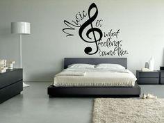 Wall Vinyl Sticker Decals Decor Art Mural Note Music Audio Headphones Sign Words (z020b) on Etsy, $31.92 AUD