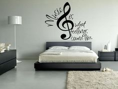 Wall Vinyl Sticker Decals Decor Art Mural Note Music Audio Headphones Sign Words (z020b) on Etsy, $31.92 AUD
