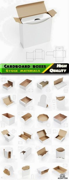 Design of cardboard boxes with drawings for cutting - 25 HQ Jpg
