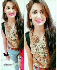 ♥ ♥ ♥❤Ah Kalbim Pragya❤ Cute Ripped Jeans, Sriti Jha, Cute Kids Photography, Designer Party Wear Dresses, Kumkum Bhagya, Short Tops, Bollywood, Beautiful Actresses, Indian Actresses