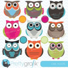 Owl hoots - cute owls for crafts, web design, card making and creative projects.