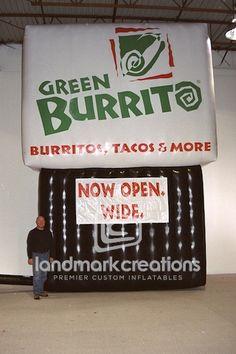 Green Burrito Restaurant Inflatable Logo #inflatables
