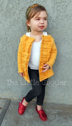 DIY Yellow Sweater . OMG need to make this for my baby girl!