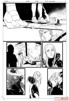 Guardians of the Galaxy inked page by Sara Pichelli