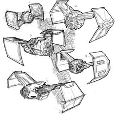 A few more #tiefighter ideas. I will render a few of them up for fun. #sketches #drawings #sketchbook #conceptart #starwars @corelpainter @wacom