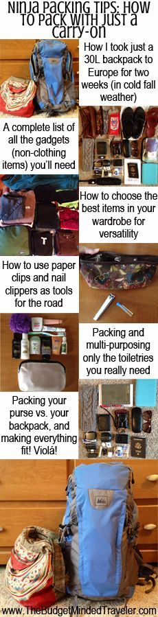 Ninja Packing Tips: Packing List for Two Weeks in Europe with Just a 30L Carry-On Backpack
