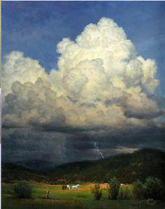 "John Cogan - ""Coming Storm"" - 20"" x 16"" acrylic on canvas"