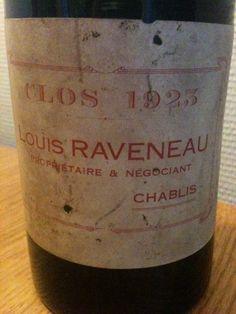 Chablis Clos Raveneau 1923