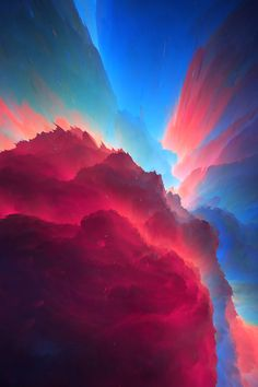 Red Cloud by rexisky Hakuna Matata, Toro Y Moi, Red Cloud, Mind Over Matter, Generative Art, Future City, Out Of This World, Night Skies, Landscape Photography
