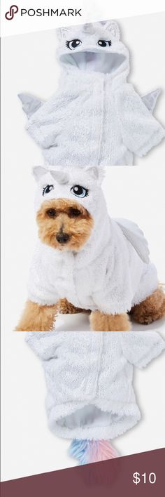 DOG - I- CORN COSTUME  DOGGIE PJS SUPER SOFT HAS VELCRO TO CLOSE SIZE SMALL FITS MY YORKIE ( SEE PIC)BOUGHT AT JUSTICE Justice Accessories