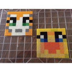 Sqaishey and Stampy - Minecraft perler beads  by _theperlerbeadmakers_