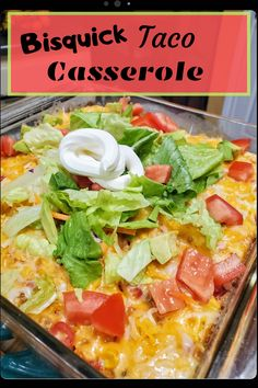 Bisquick Taco Casserole - House of Faucis Taco Mix, Cheddar Bay Biscuits, Apple Bite, Bisquick Recipes, Pizza Casserole, Rich Recipe, Food To Go, Seasoning Mixes, Cooking Time