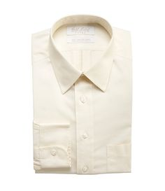 Gold Label Roundtree & Yorke Non-Iron Fitted Classic-Fit Point-Collar Dress Shirt