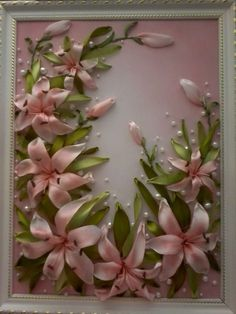 Wonderful Ribbon Embroidery Flowers by Hand Ideas. Enchanting Ribbon Embroidery Flowers by Hand Ideas. Ribbon Art, Diy Ribbon, Ribbon Crafts, Flower Crafts, Embroidery Needles, Hand Embroidery Stitches, Embroidery Art, Embroidery Designs, Embroidery Bracelets