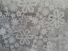 lace fabric, vintage lace fabric, hollowed out lace fabric with retro floral, antique cotton lace, bridal lace