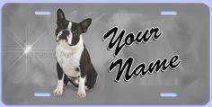boston terrier license plate