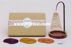 Spiral Incense gift set with stand and 9 coils