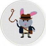Indiana Bunny Illustraiton