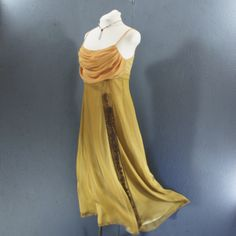 sway in the breeze with this chiffon full length upcycled vintage dress from Energy and Peace