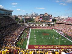 See a Big Ten football game at the University of Minnesota TCF Bank Stadium