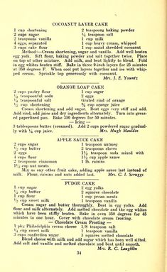 The Gertrude Bobbitt Circle cook book : recipes of the Southland, yesterday and today : Central Methodist Church (Spencer, N. Gertrude Bobb… in 2019 Retro Recipes, Old Recipes, Vintage Recipes, Cookbook Recipes, Sweet Recipes, Baking Recipes, Cake Recipes, Dessert Recipes, Recipies