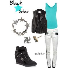 """Black☆Star, from Soul Eater"" by blackrabbitmegapig on Polyvore"