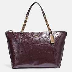 049d58d9c69e Coach Ava Signature Chain Oxblood/Light Gold Lesther Tote - Tradesy Gold  Leather, Patent