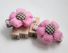 Children/girls/baby hair clip flower pearl hair by JigulinsHA