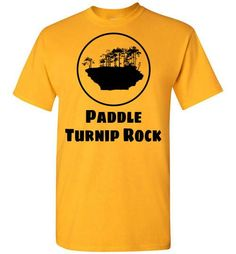 "A ThumbWind Exclusive - Paddle Turnip Rock T-Shirt Considered one of Michigan's most unique and greatest natural wonders. If you grunted and sweated your way out to the ""Rock"" for great pictures, show you have ""been there, done that"""