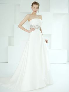 Amazing double organza fabric gown