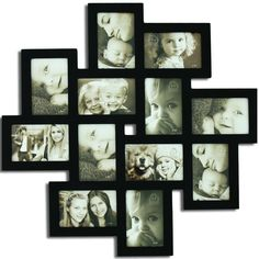 "Amazon.com - Adeco [PF0206] Decorative Black Wood Wall Hanging Collage Picture Photo Frame, 12 Openings, 4x6"" -"