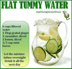 Flat tummy drink ACCOMPLISHED (drink all next day otherwise you taste the mint rotting)