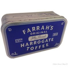 Farrah's Original Harrogate Toffee which we proudly sell at the hotel. Toffee, British Sweets, Spa Water, After Life, English Food, Great British, North Yorkshire, At The Hotel, Confectionery