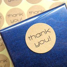 240 PCS/lot Kraft THANK YOU Design Sticker Labels food Seals, Gift stickers for Wedding seals