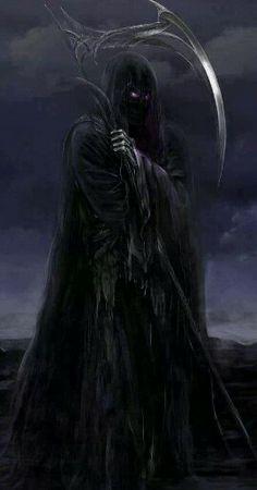 The Reaper still strikes in the post apocalypse Death Reaper, Grim Reaper Art, Grim Reaper Tattoo, Don't Fear The Reaper, Grim Reaper Images, Dark Fantasy Art, Dark Art, Dark Gothic, Gothic Art