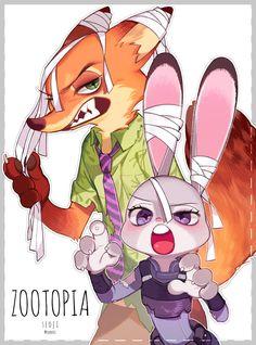 Zootopia - Nick and Judy - Halloween
