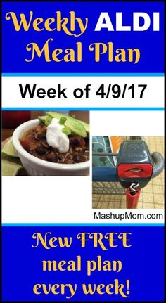 Weekly ALDI meal plan week of 4/9/17 - 4/15/17 -- Six complete dinners for four, $60 out the door! Save time and money with meal planning. http://www.mashupmom.com/weekly-aldi-meal-plan-week-4917-41517/ Cheap Easy Meals, Easy To Make Dinners, How To Plan, Four, Frugal Living, Frugal Family, Freezer Meals, Frugal Meals, Budget Meals