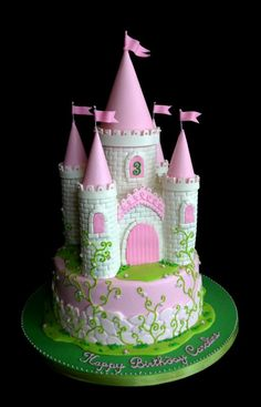 Princess Castle Cake - everything is edible!