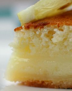 Lemon Cake-Pie - When I found this recipe for Lemon Cake-Pie in my Grandmothers recipe box, I was intrigued. This super-easy pie bakes into a light (almost angel-food-like) cake on top of a creamy custardy crust-full-of-yummy-ness!