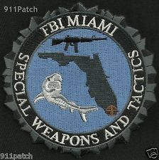 FBI MIAMI, FL - SWAT Special Weapons And Tactics POLICE Patch Shark