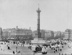L'animation de la place de la Bastille vers 1880.