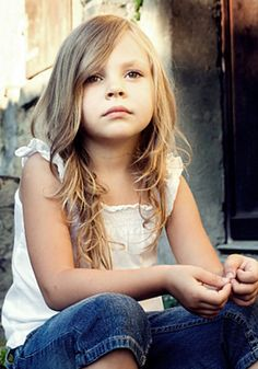 Kids hairstyles Girls hair Long, wavy layers Long
