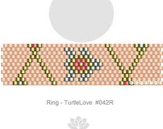 peyote ring pattern,PDF-Download, #042R, beaded ring pattern, beading tutorials, ring pattern