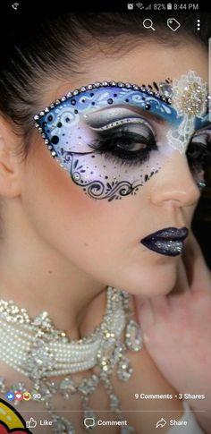 Make-up Maske mask makeup Face Painting Tutorials, Face Painting Designs, Masquerade Mask Makeup, Masquerade Ball, Tinta Facial, Mask Face Paint, Face Paint Makeup, Body Makeup, Adult Face Painting
