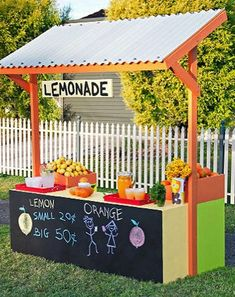 Mobile lemonade and treat stand no original source but for Kids lemonade stand plans
