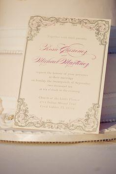 Vintage Romance - Wedding Invitation by blush printables, via Flickr
