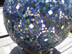 bowling ball art projects | Mosaic Bowling Ball Garden Art Project for Your Garden | The Homestead ...