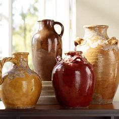 This beautiful Sicilian pottery comes in such lovely autumnal colors, from Pottery Barn. Rustic Italian Decor, Italian Home Decor, Mediterranean Home Decor, Italian Kitchen Decor, Tuscan Kitchen Decor, Tuscan Kitchen Colors, Color Terracota, Tuscany Decor, Italian Pottery
