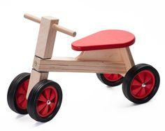 Houten loopfiets rood, Ado   Ado houten speelgoed   Villa Hoera