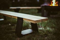 Ławka ogrodowa do ogniska #ognisko #grill #mebleogrodowe #jesień Grill, Outdoor Furniture, Outdoor Decor, Bench, Metal, Garden, Home Decor, Garten, Decoration Home